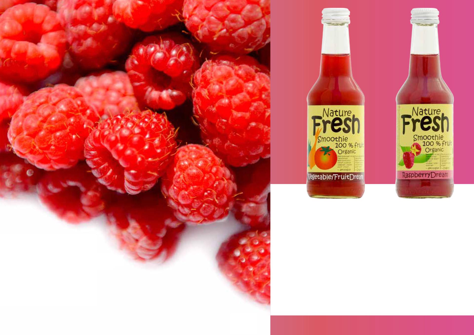 'Organic juice drinks, natural cool taste'